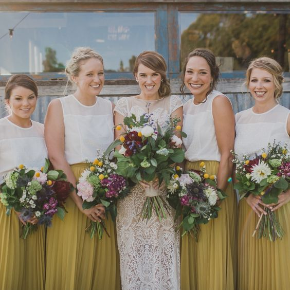 12-bridesmaid-separates-with-mustard-yellow-maxi-skirts-and-white-tops.jpg