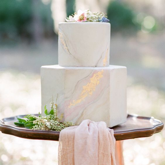 34-concrete-marblelized-wedding-cake-with-fresh-flowers-on-top.jpg