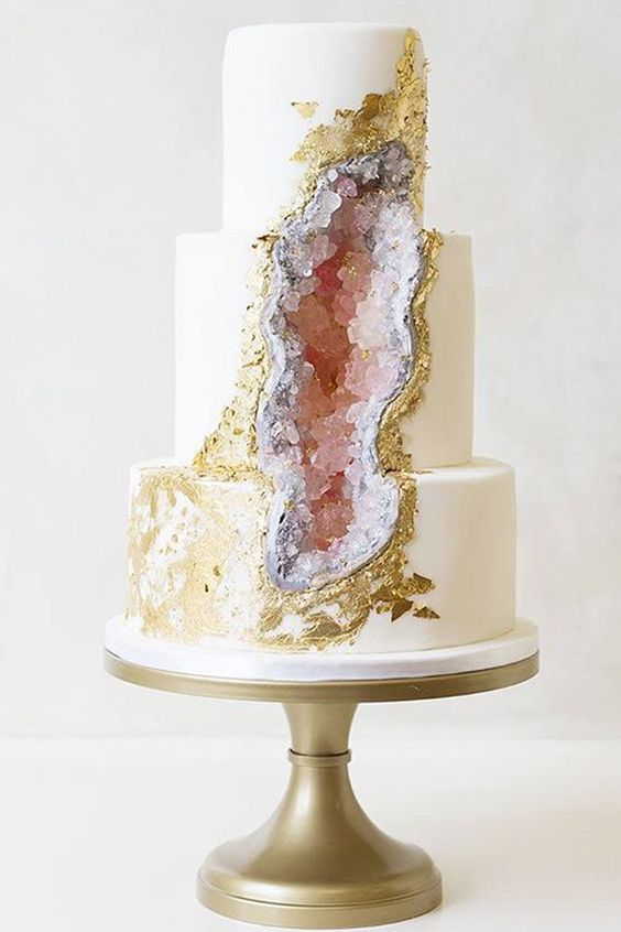 25-pink-geode-and-gold-leaf-wedding-cake-looks-like-a-real-rock-piece.jpg