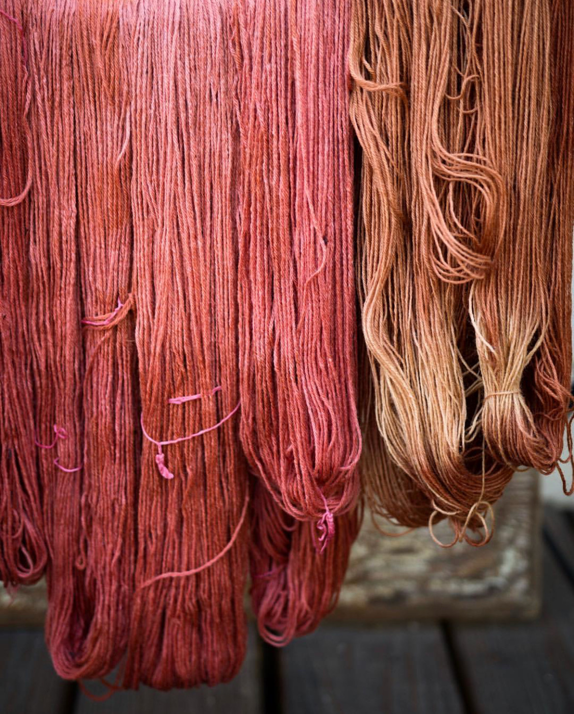 Left: Sustainable Merino, Right: Superwash Polwarth