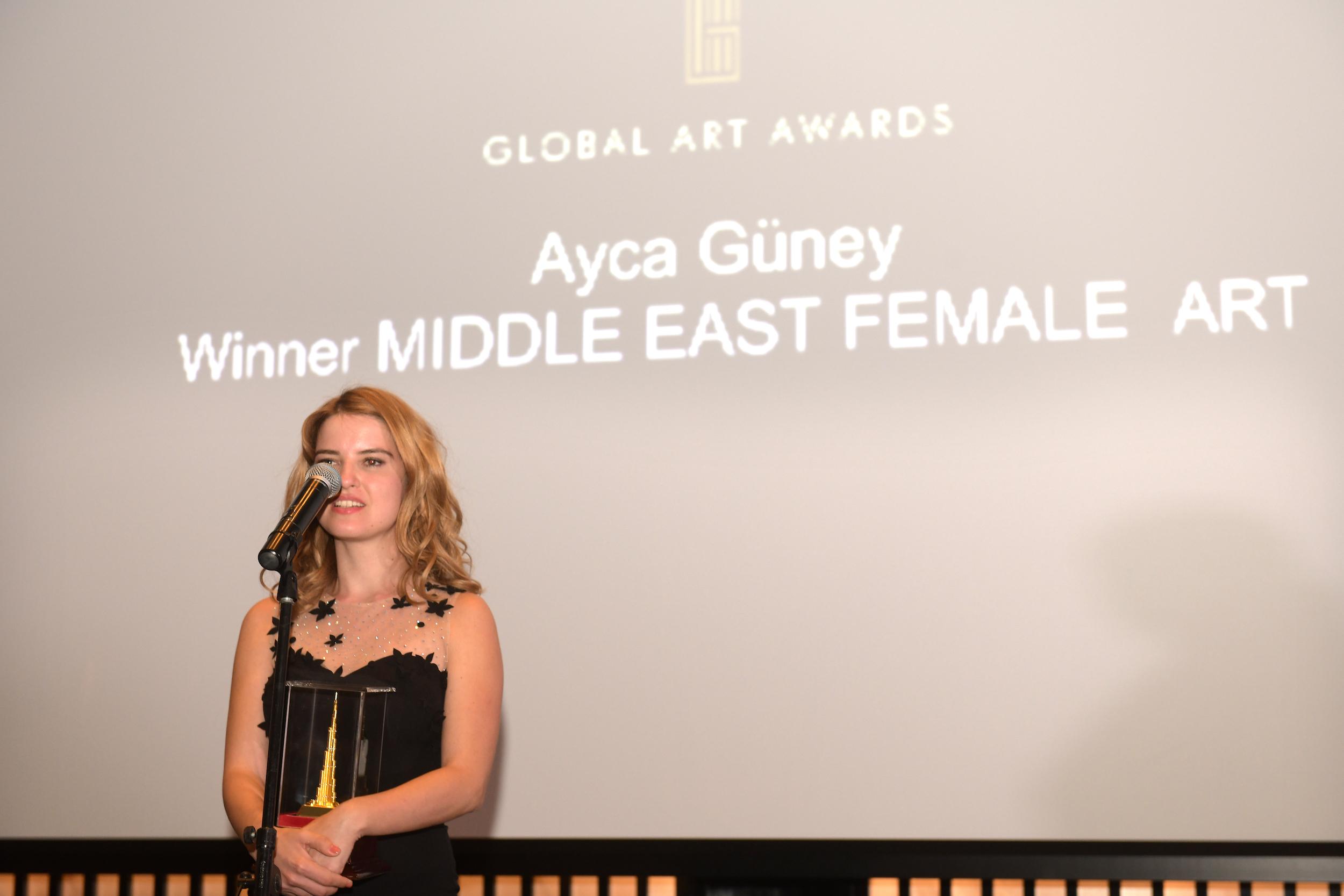 MIDDLE EAST FEMALE ART AWARD   AYCA GÜNEY (TURKEY)
