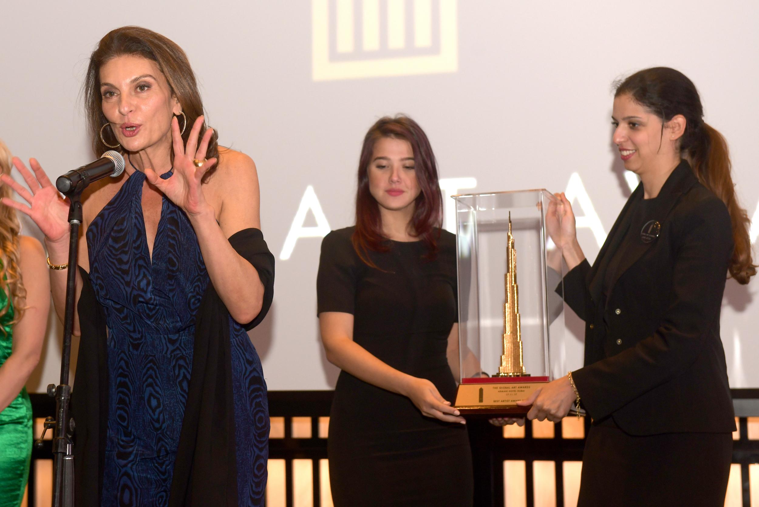 BEST GLOBAL ARTIST AWARD   NJA MAHDAOUI (TUNISIA)