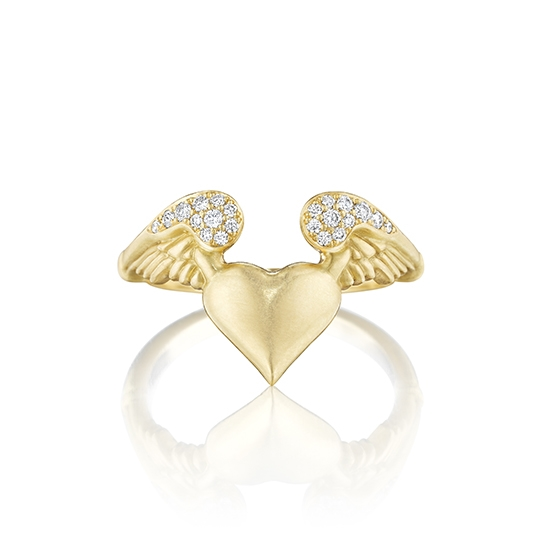 Pavé Winged Heart Ring