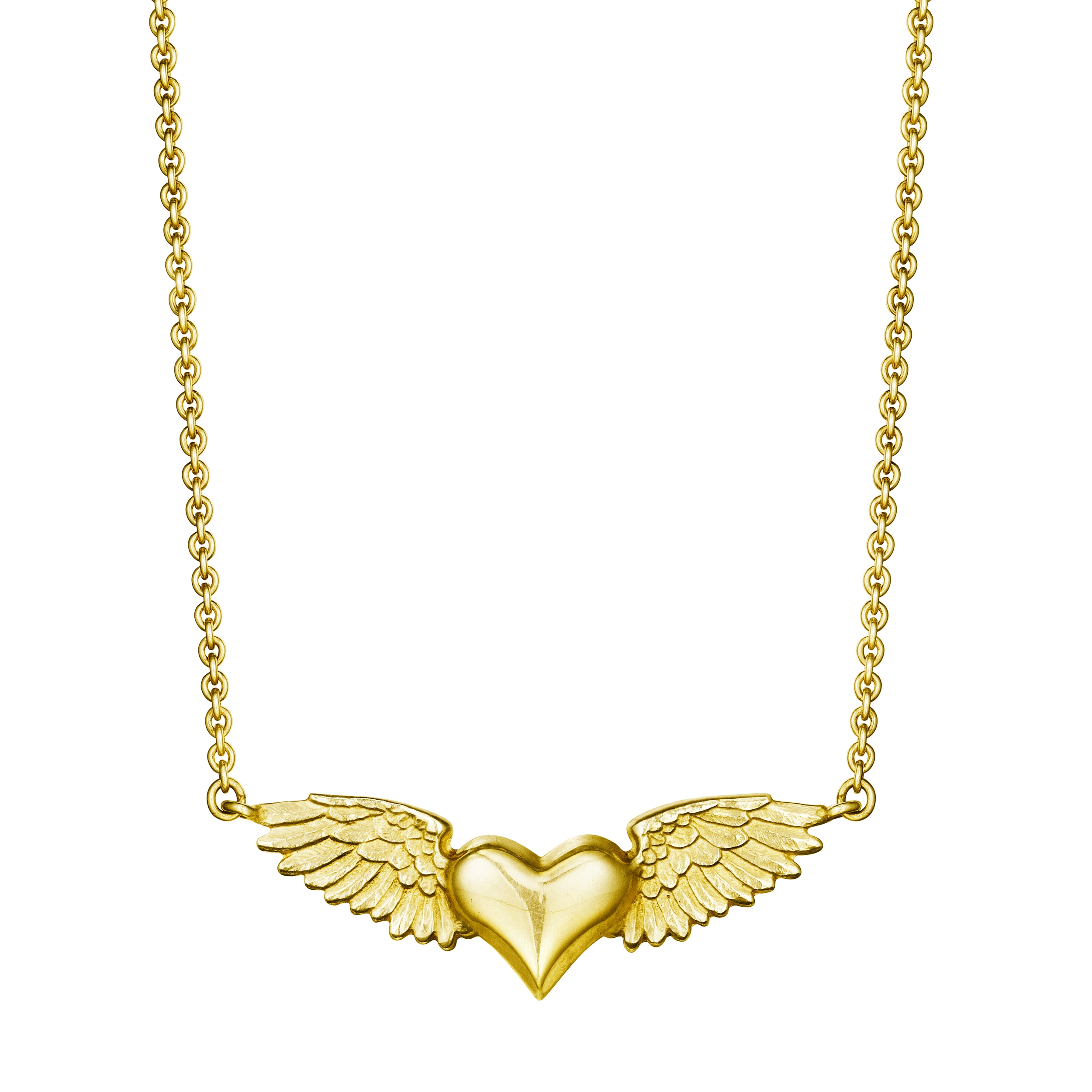Gold Flying Heart Necklace