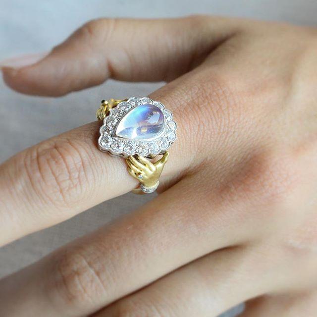 Baby blue Moonstone dreams. . . . . . #moonstone #showmeyourrings #jewelry #fine #luxurylifestyle #luxury