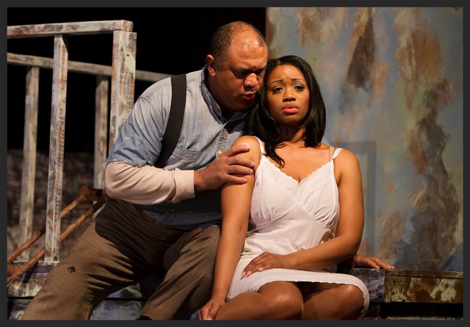 GORDON HAWKINGS AND LAQUITA MITCHELL in syracuse opera's porgy and bess, 2014