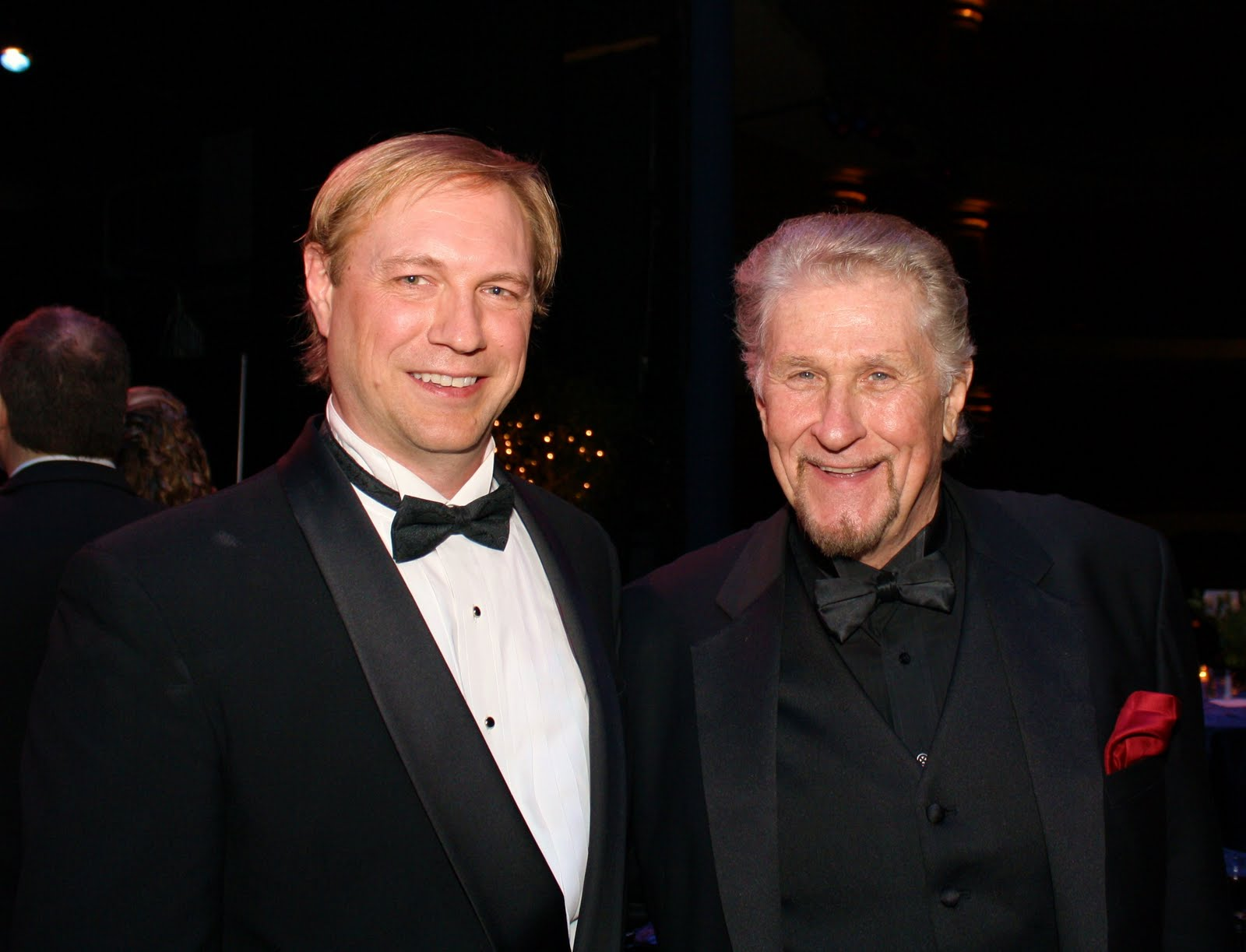 Mark Walters embracing one of his mentors, the legendary Sherrill Milnes.