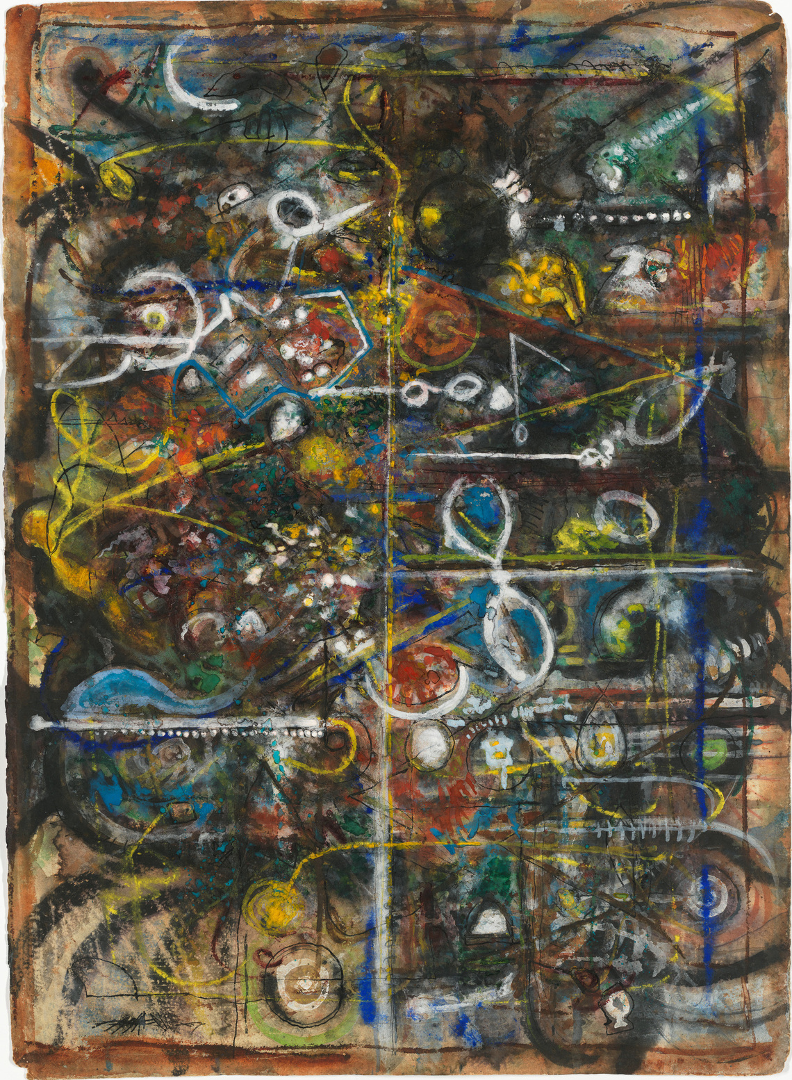 Richard Pousette-Dart (1916–1992), Untitled , 1940. Transparent and opaque watercolor, pen and ink, and graphite pencil on paper, 31 × 23 1/2 in. (78.7 × 59.7 cm) Whitney Museum of American Art, New York; purchase, with funds from the Drawing Committee 2001.21 © artist or artist's estate.