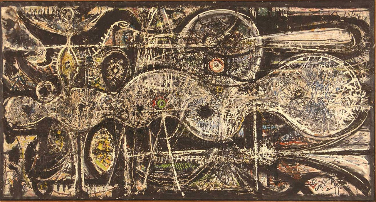 Richard Pousette-Dart,  Undulation , 1941-42, oil on linen, 48 x 94 inches.