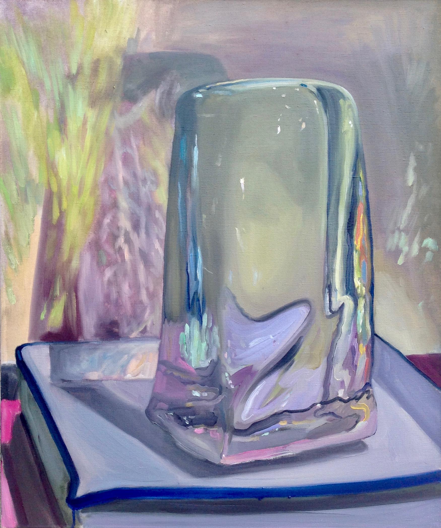 Greta Waller (b. 1983),  Electric Slide , 2018, oil on linen, 36 x 30 inches.