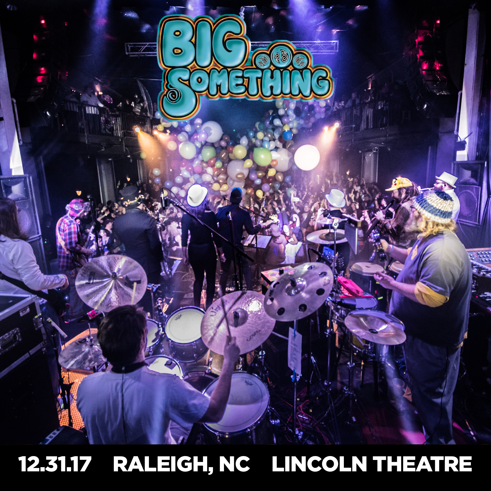 Photograph by Chris Sturk.  Big Something LIVE Album Cover