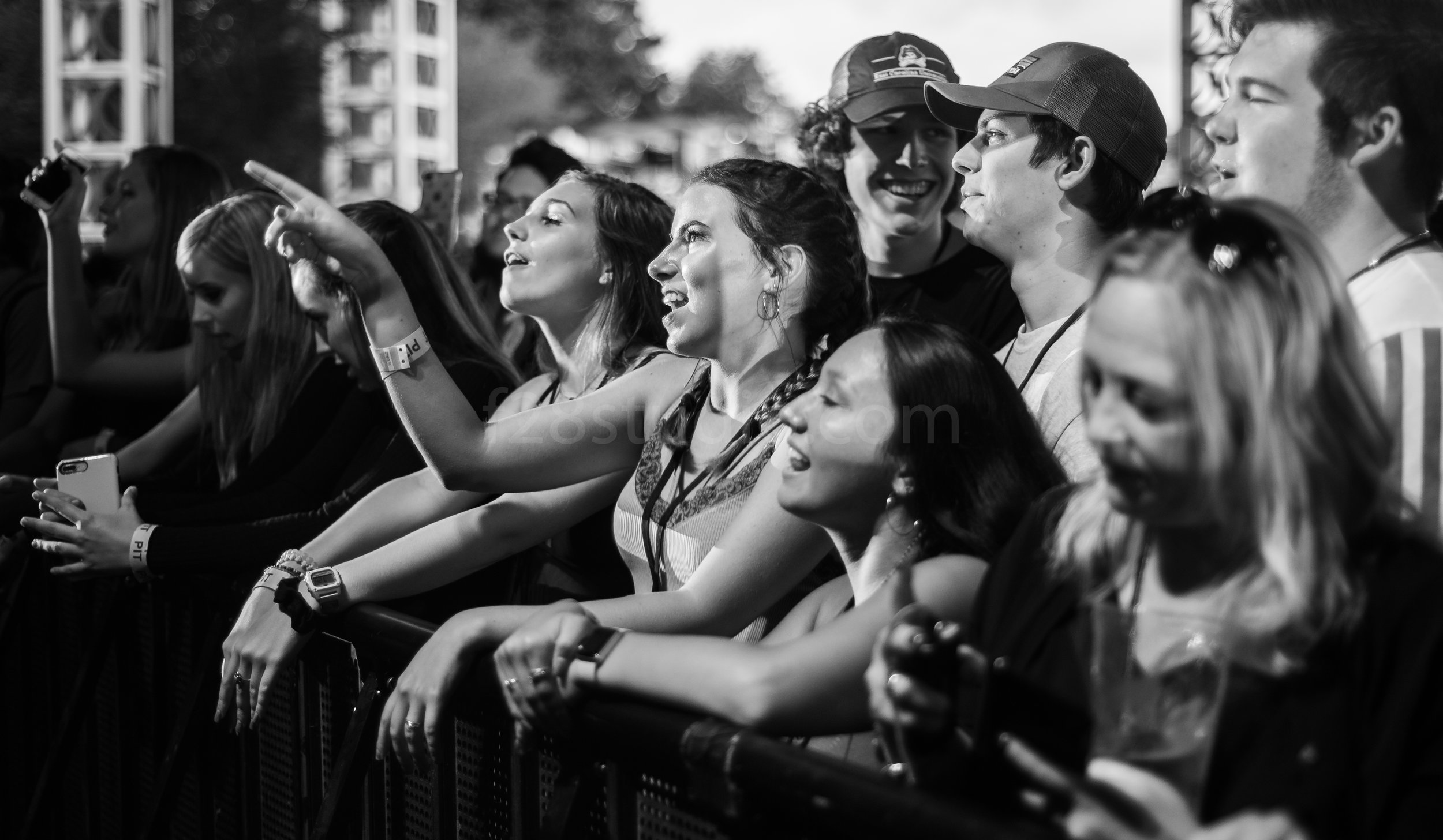 Fans waiting as Post Malone was about to hit the stage.