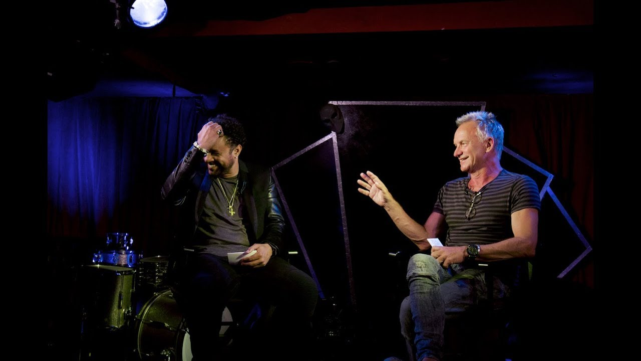 Shaggy and Sting on speakeasy TV.