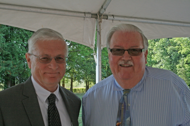 (L-R) Joe Valentine,     RSN Executive Director, North Sound Mental Health Administration, and  Kenneth Dahlstedt, Skagit County Commissioner, at the North Sound E&T open house on Wednesday, September 9, 2015