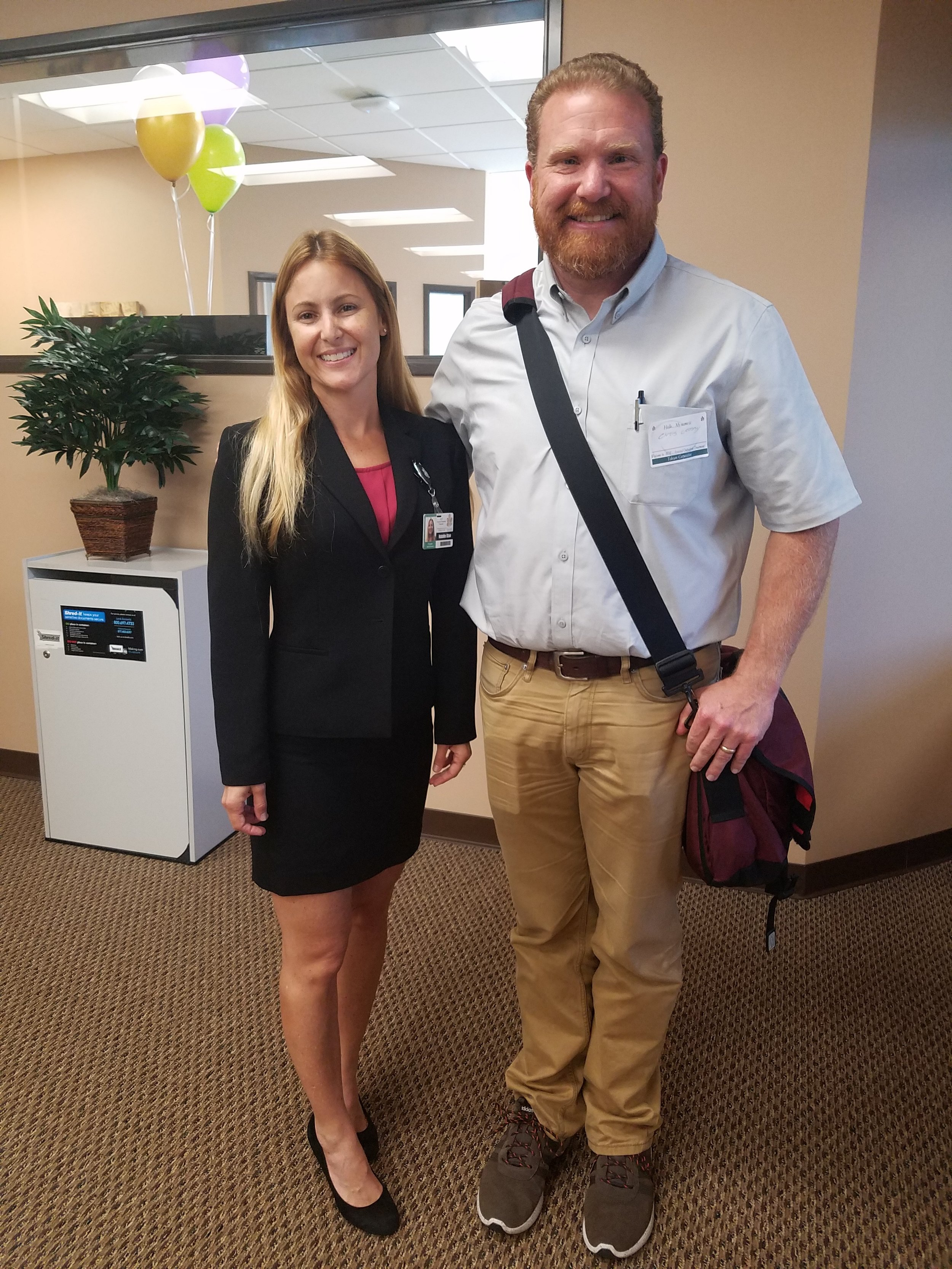 Natalie Blair , AOT Administrator   and  Chris Crosby , Talent Acquisition Manager