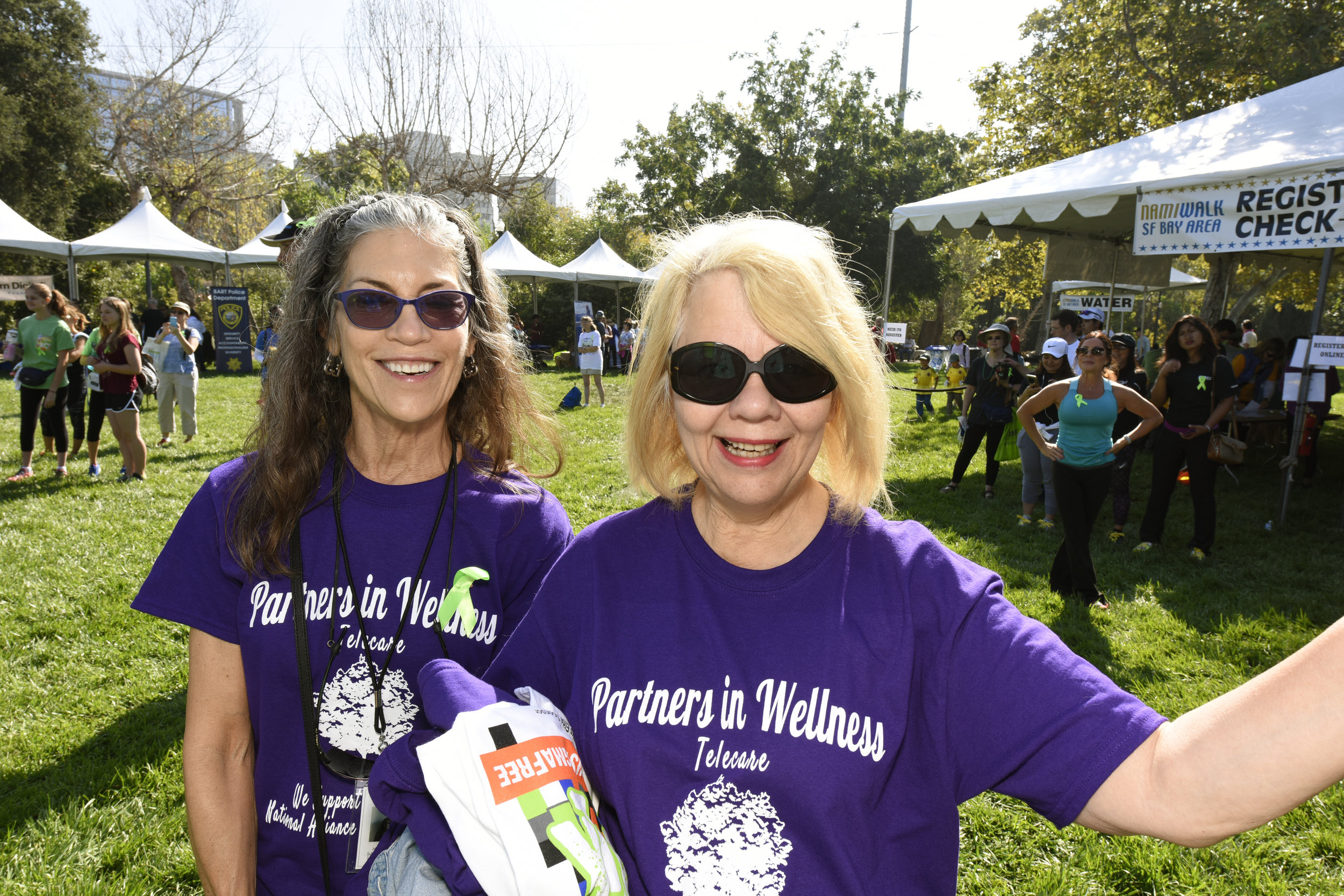 Jennie Kosko ,Personal Service Coordinator and  Lillian Fillpot ,Administrator at the Silicon Valley NAMI Walk  on   Saturday, September 17.