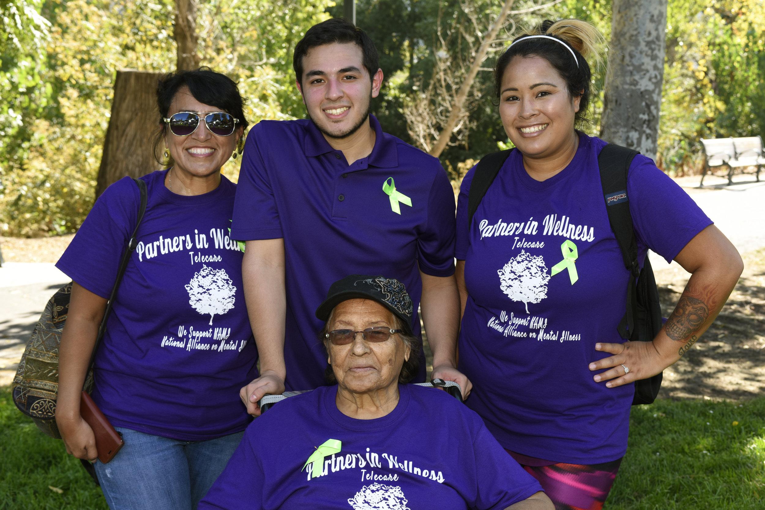 (L-R):Rachael Castro  ,  Mathew Castro,    Edie Coronado, and Justina Coronado  at the Silicon Valley NAMI Walk  on   Saturday, September 17.