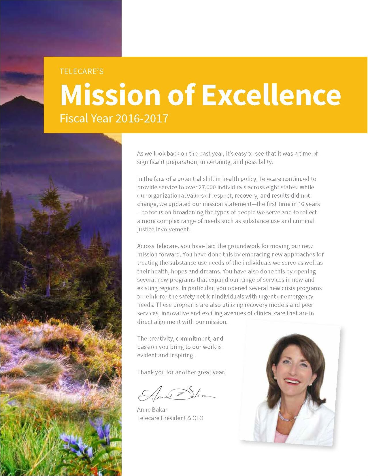 FY16-17 Mission of Excellence