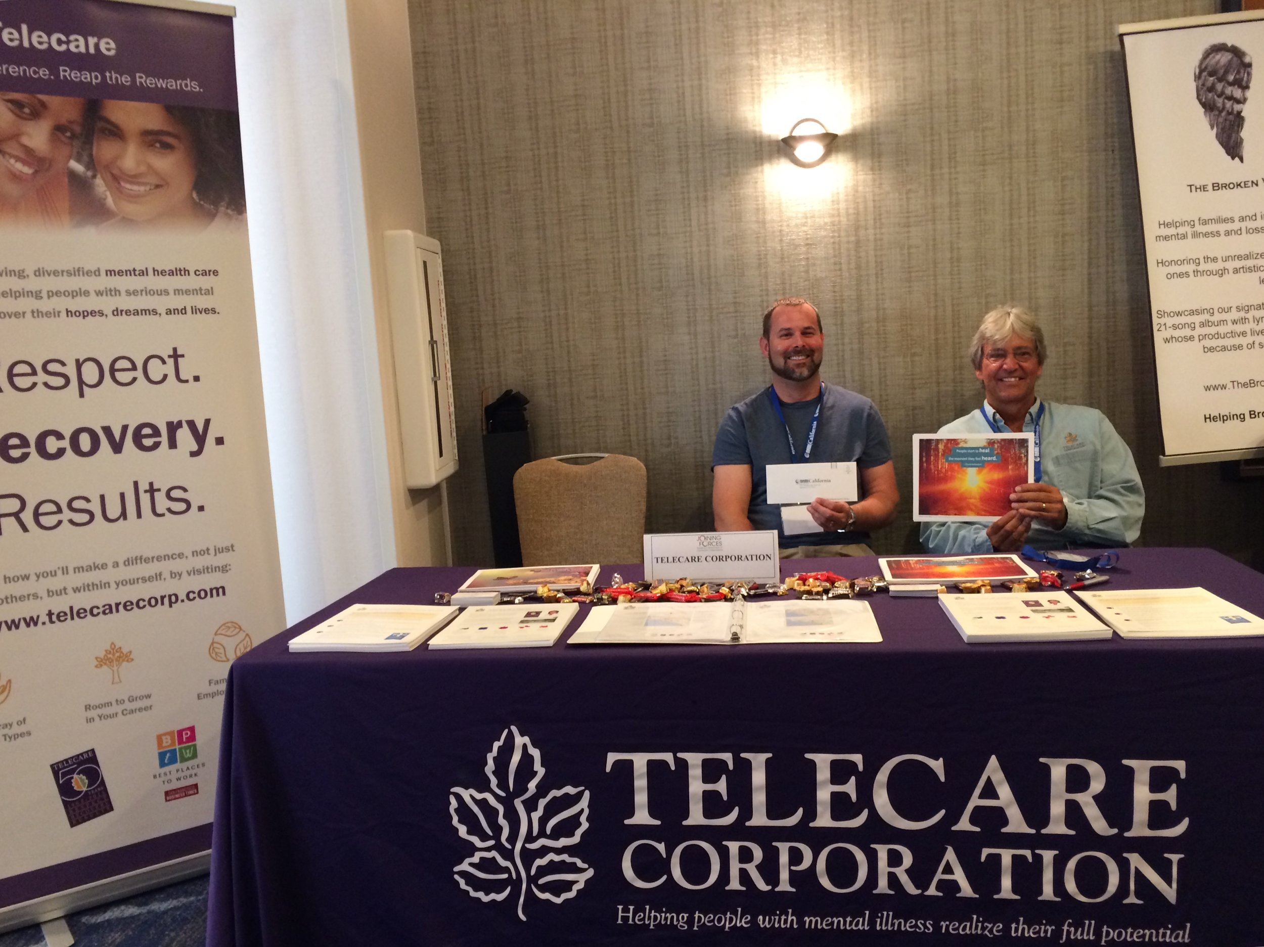 NAMI California Conference - Pete Hilen,TREEhouse Administrator, and Ed Bienkowski, Regional Director of Operations, having fun at the NAMI California Annual Conference on August 25 & 26 in Newport Beach, CA.