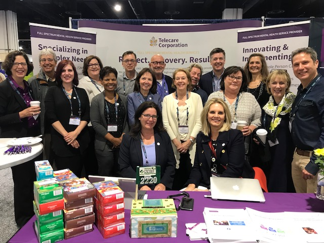 Our team at NatCon 2018. For more information on our presentations, click here . (Unfortunately, the Girl Scout Cookies didn't make it back from the conference, but they did support a great cause — Girl Scouts Beyond Bars. For more information, click here. )