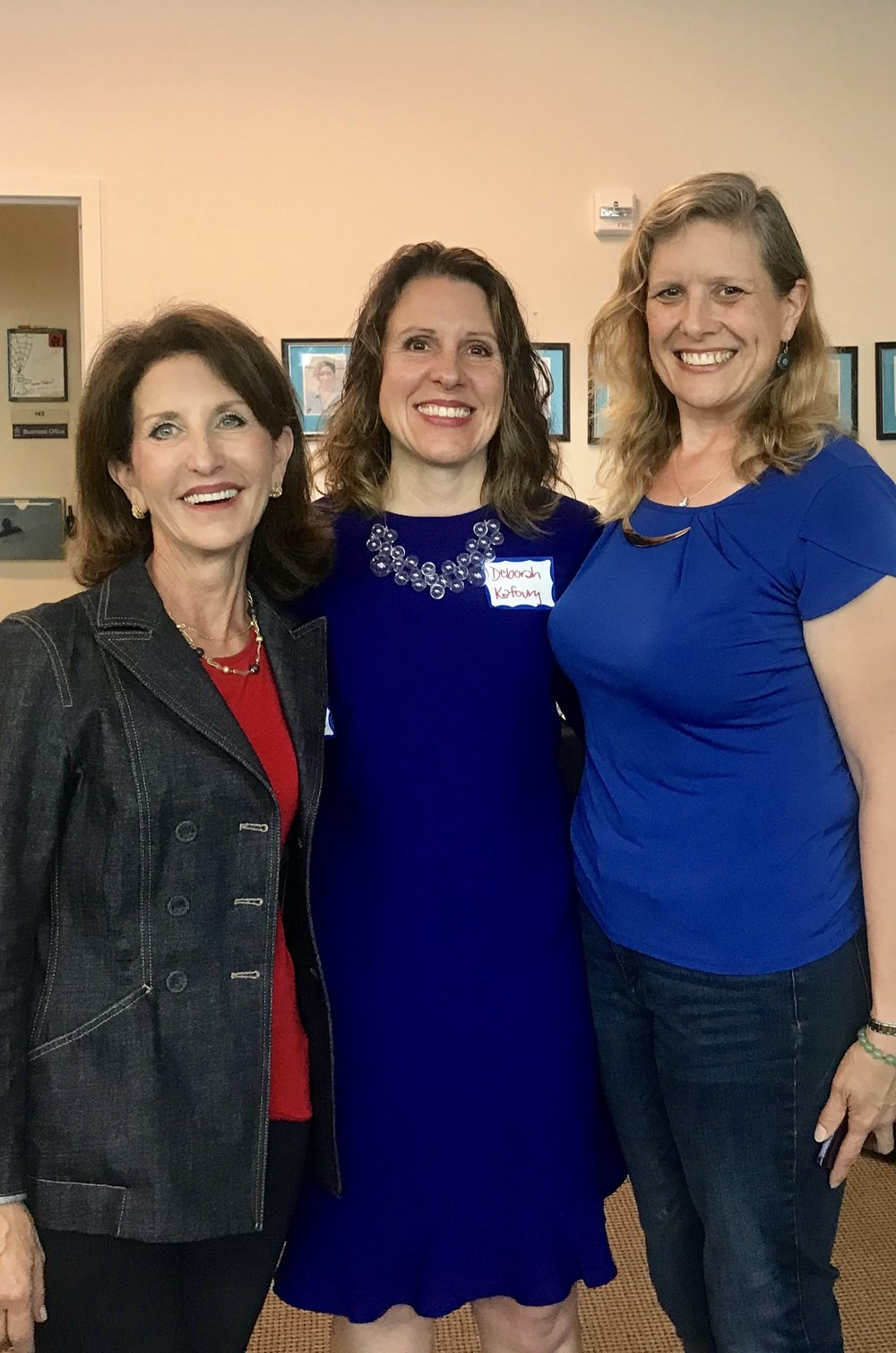 Anne Bakar, President and CEO of Telecare; Deborah Kafoury, Multnomah County Chair; Ann Kasper, Multnomah CATC Staff