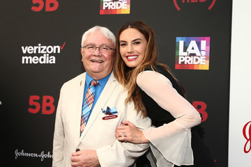 Telecare's Cliff Morrison and Actress Elizabeth Chambers at LA Pride 2019.