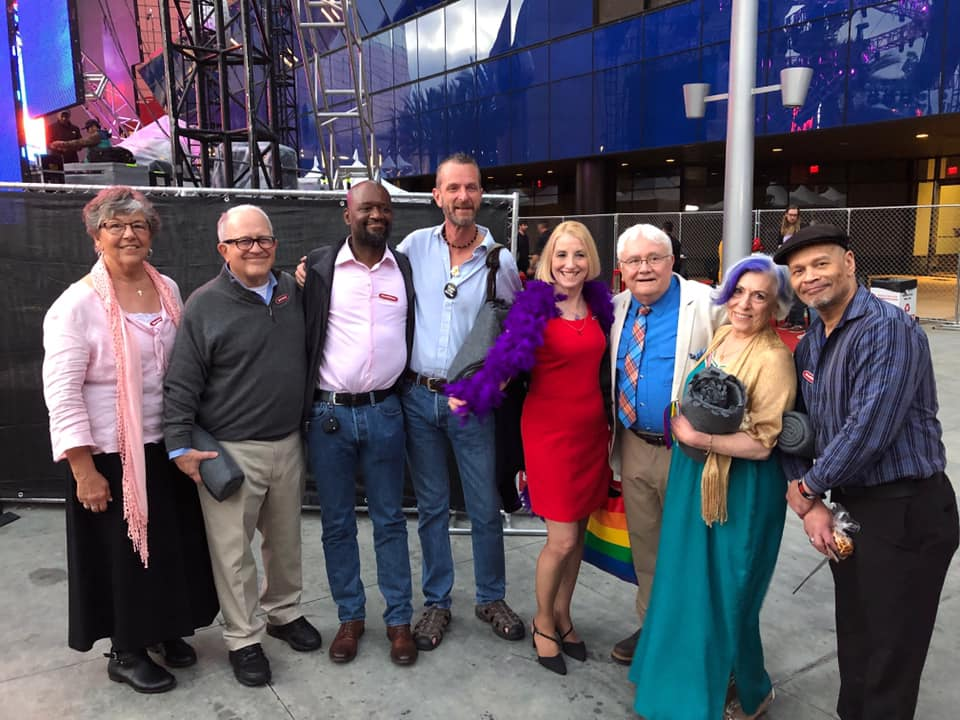 The cast of the documentary at LA Pride 2019.