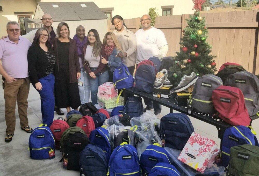 Merrill CSU Staff and donated items