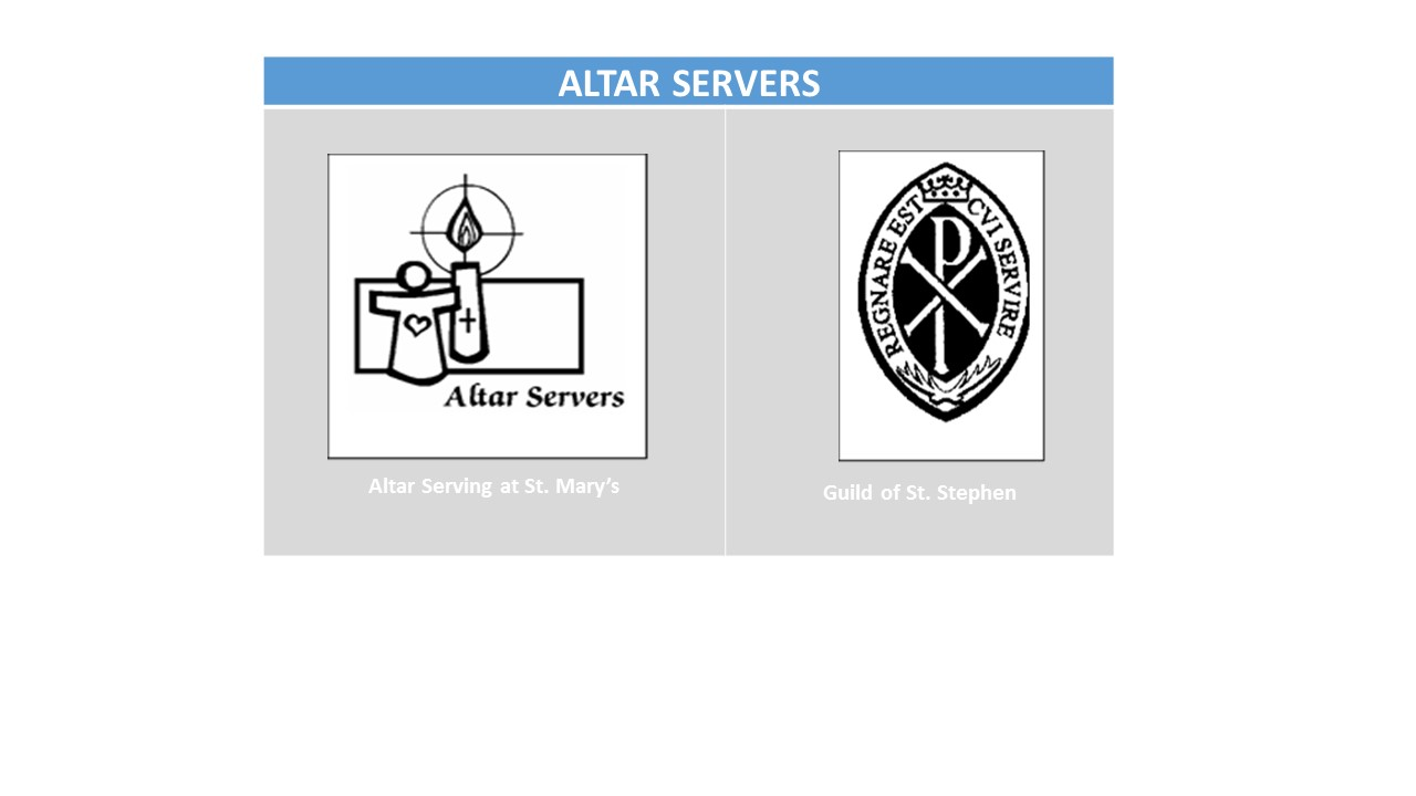 So you want to be an Altar Server  at St. Mary's