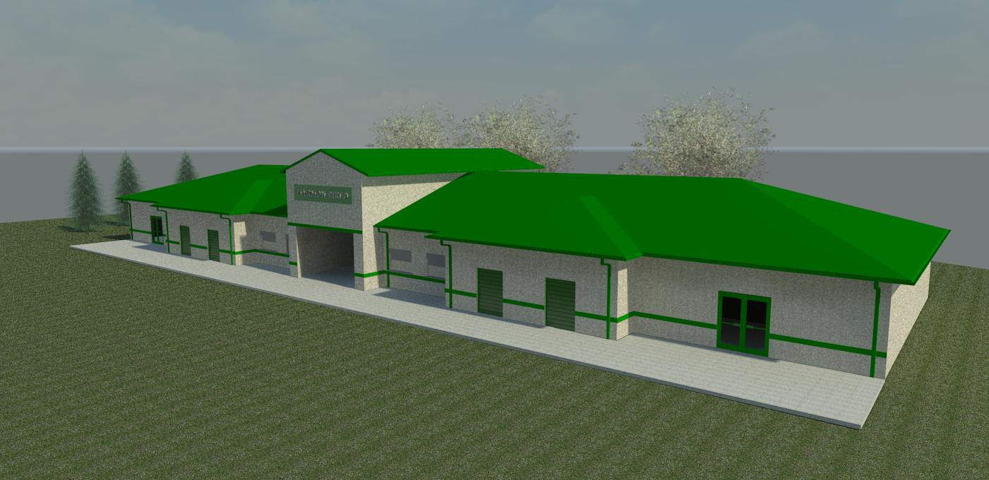 Rendering of the proposed fieldhouse