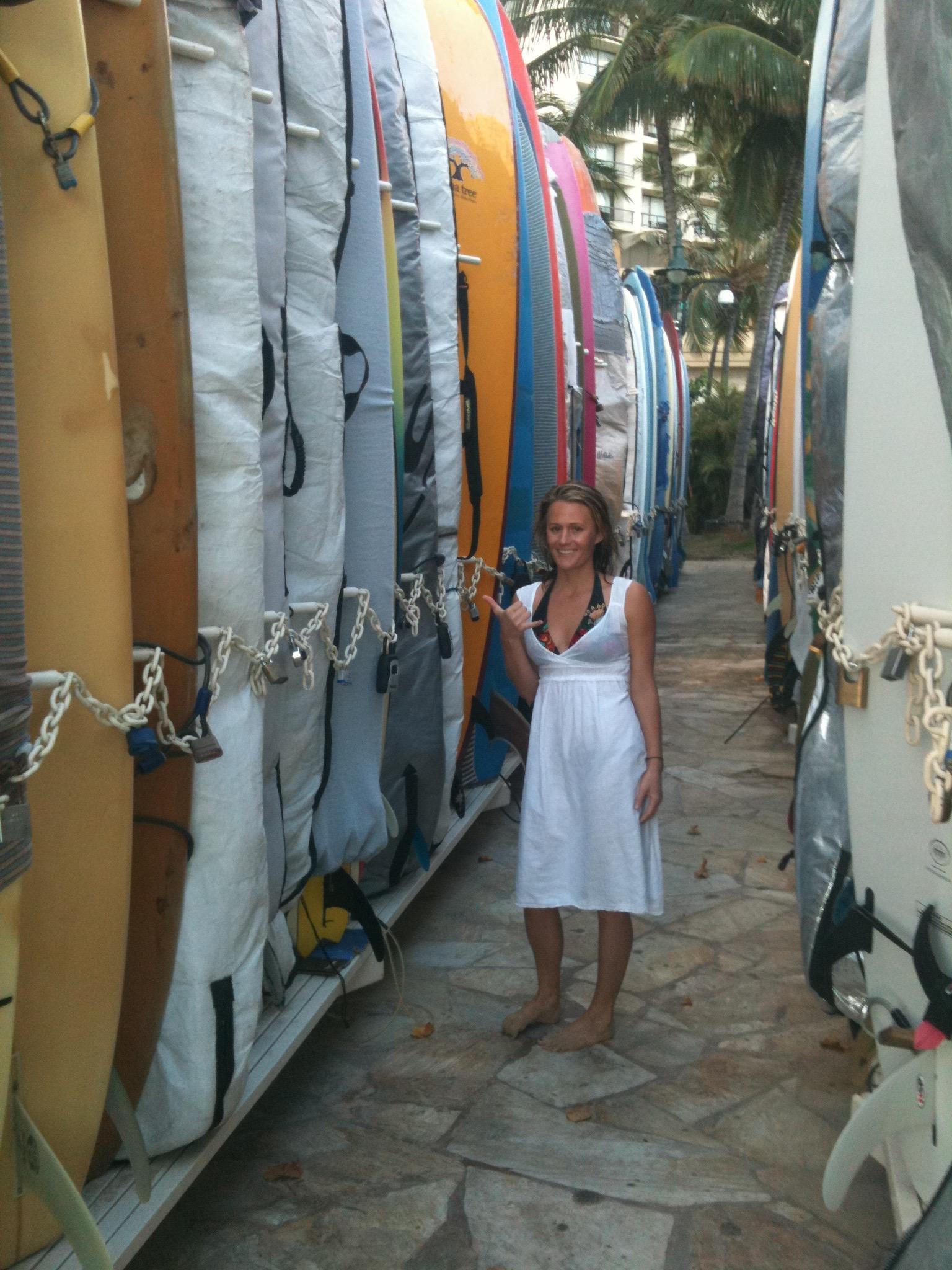 Hanging ten in Waikiki, HI