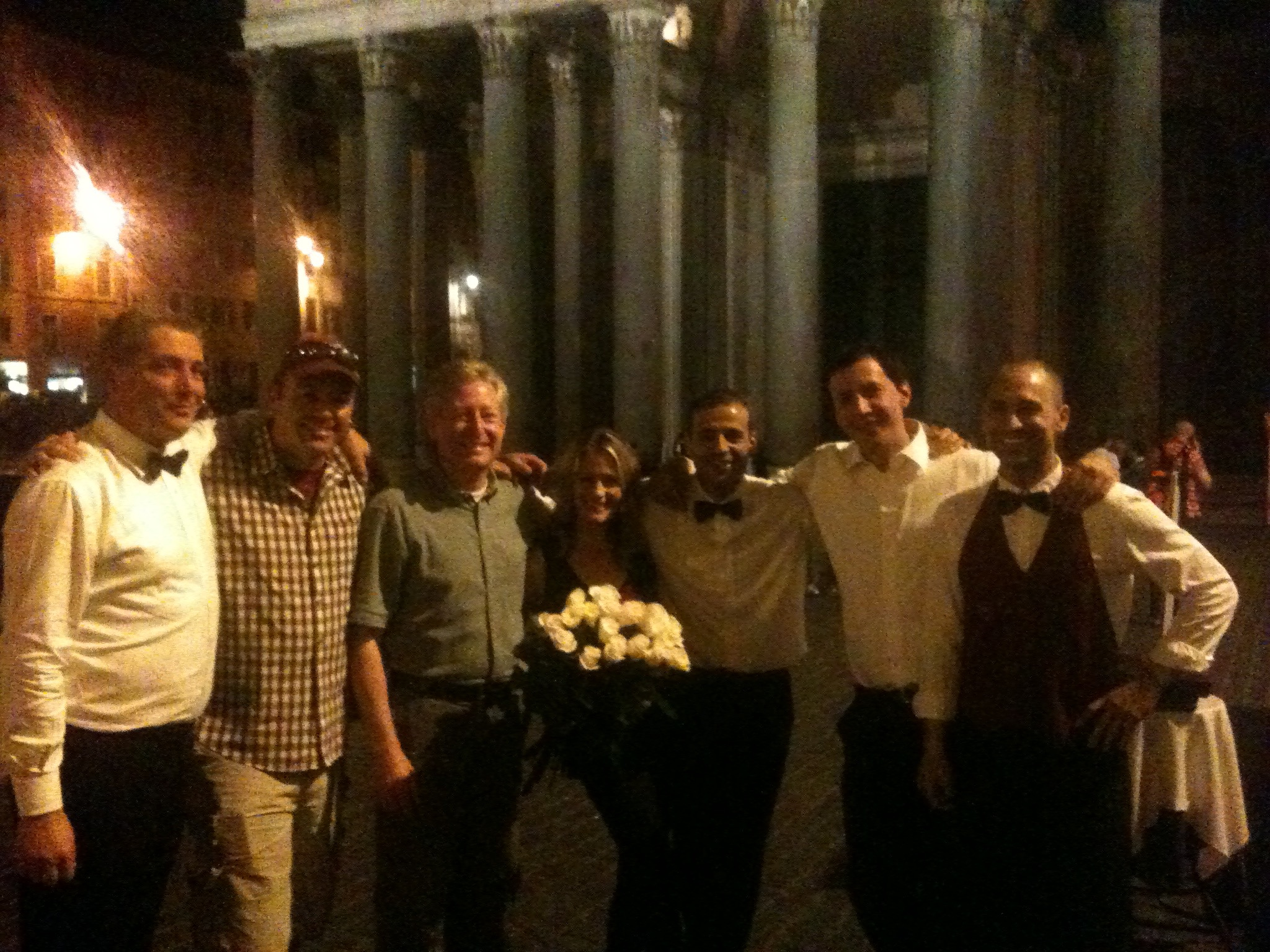 Making new friends in Rome, Italy
