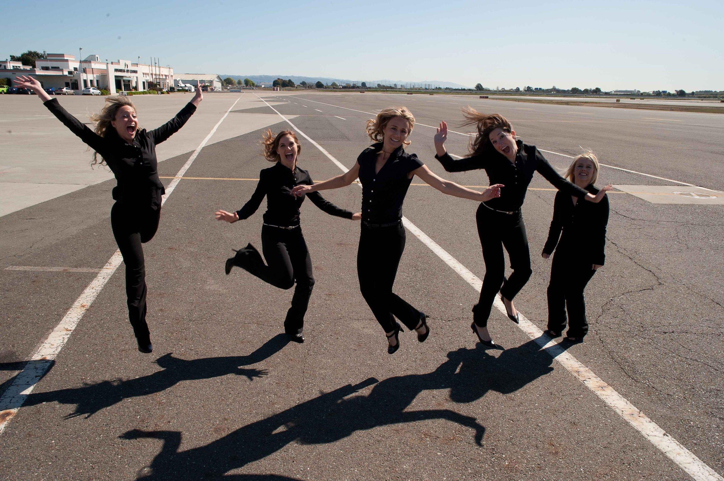 SkyAngels jumping for joy upon Graduation
