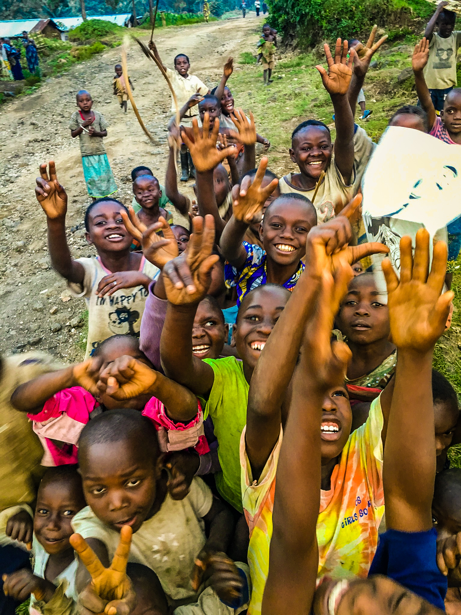 Children from the village in Rumangabo, Congo