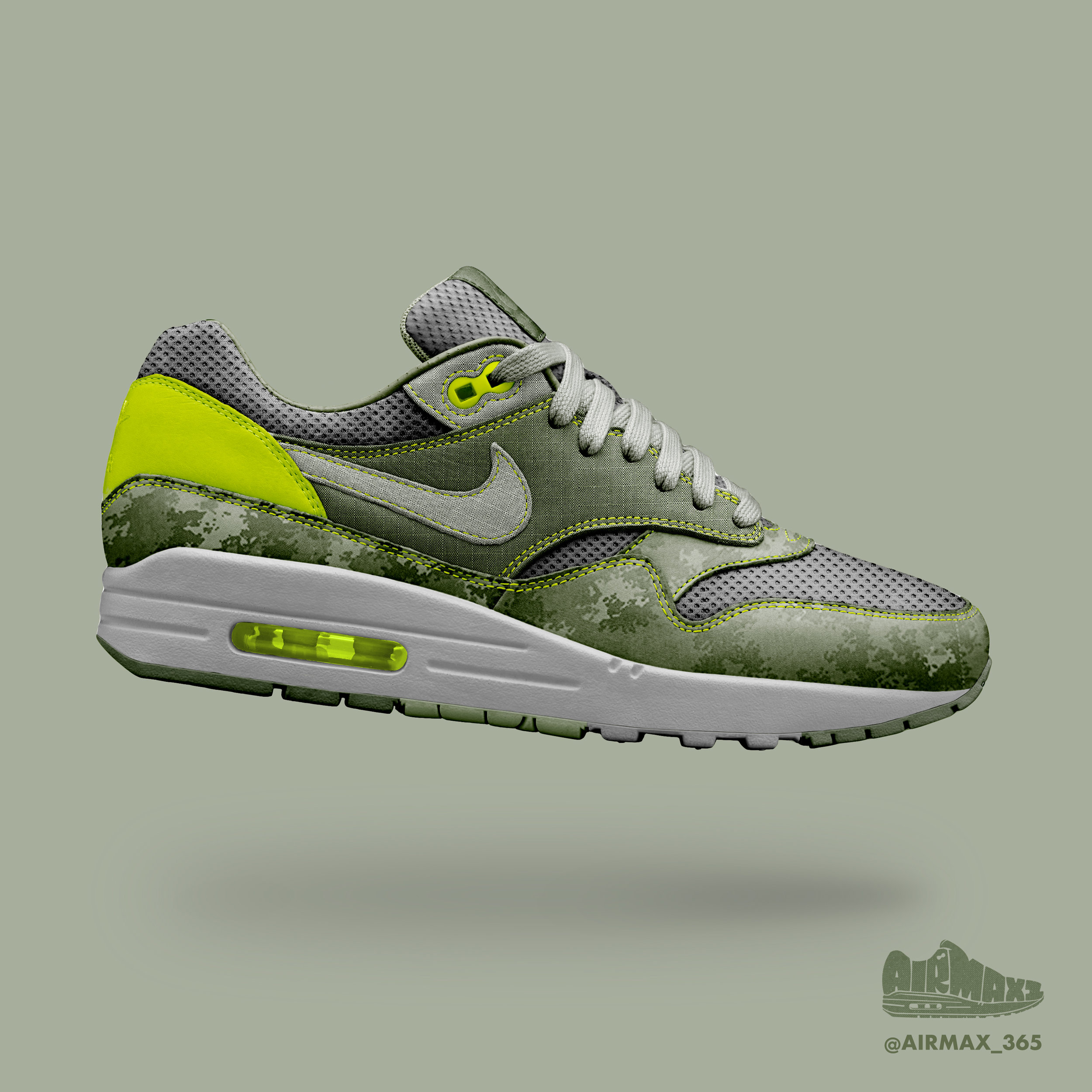 Day 331: Air Max 1 Dusted Camo
