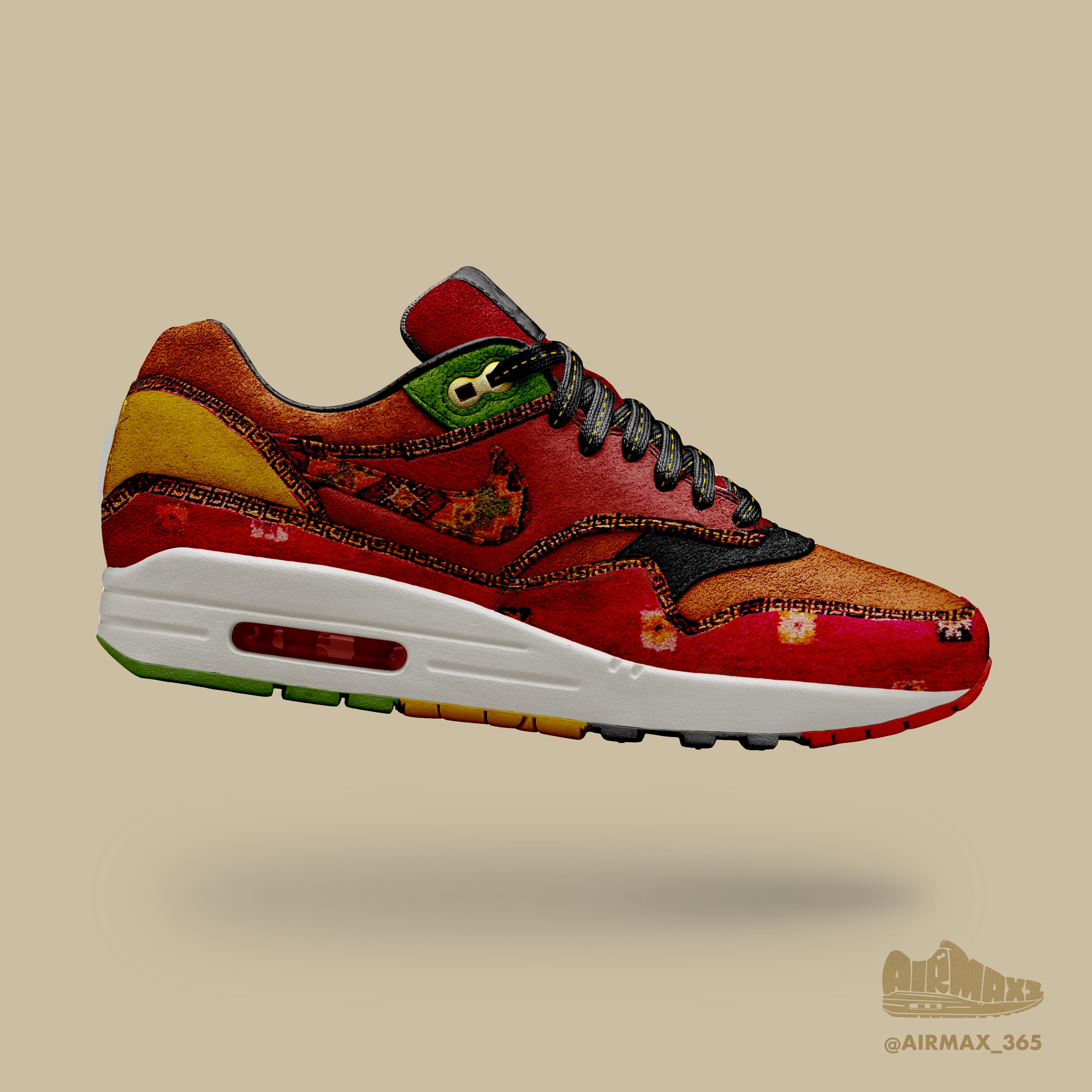 Day 238: Air Max 1 Moroccan Tapestry