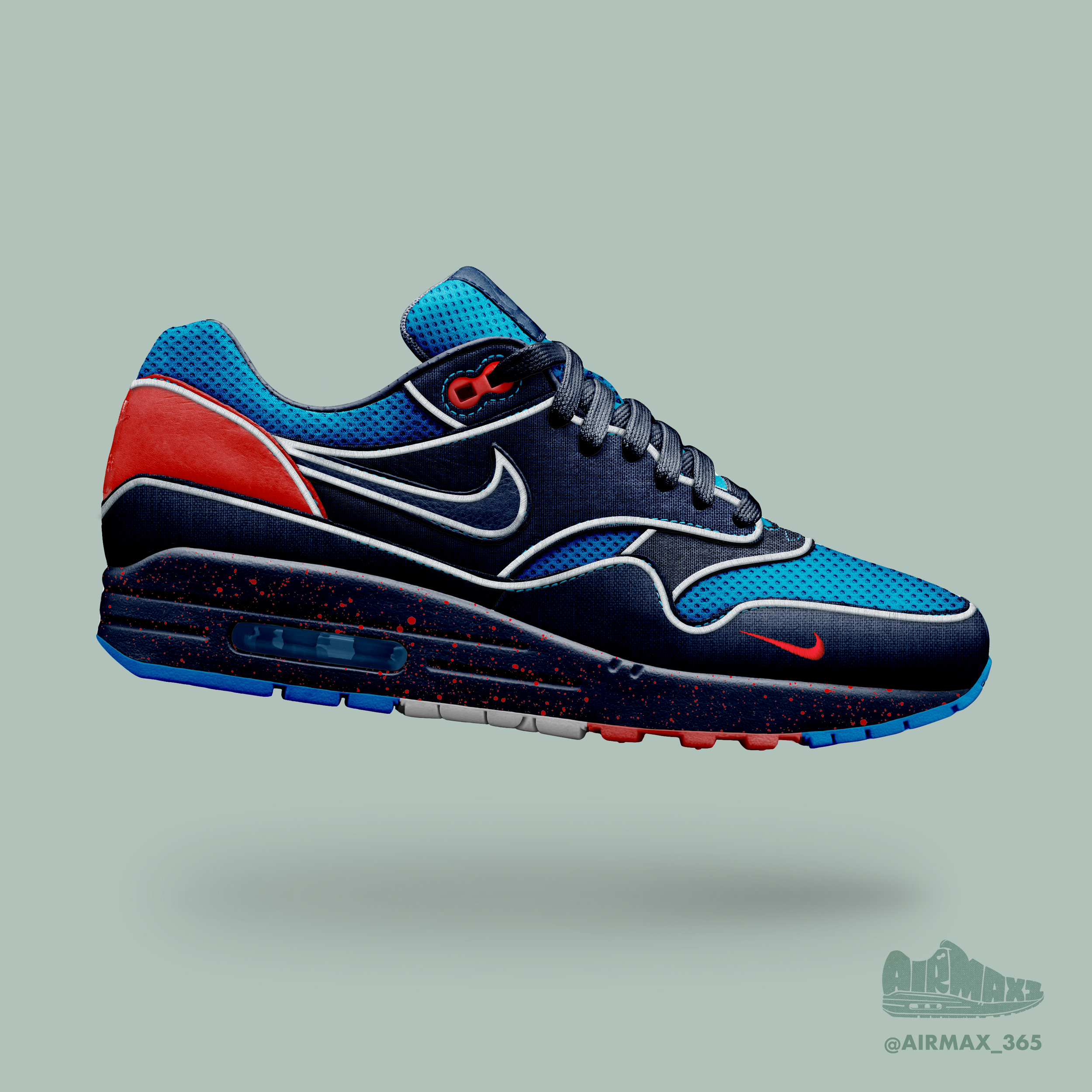 Day 228: Air Max 1 Prussian Blue