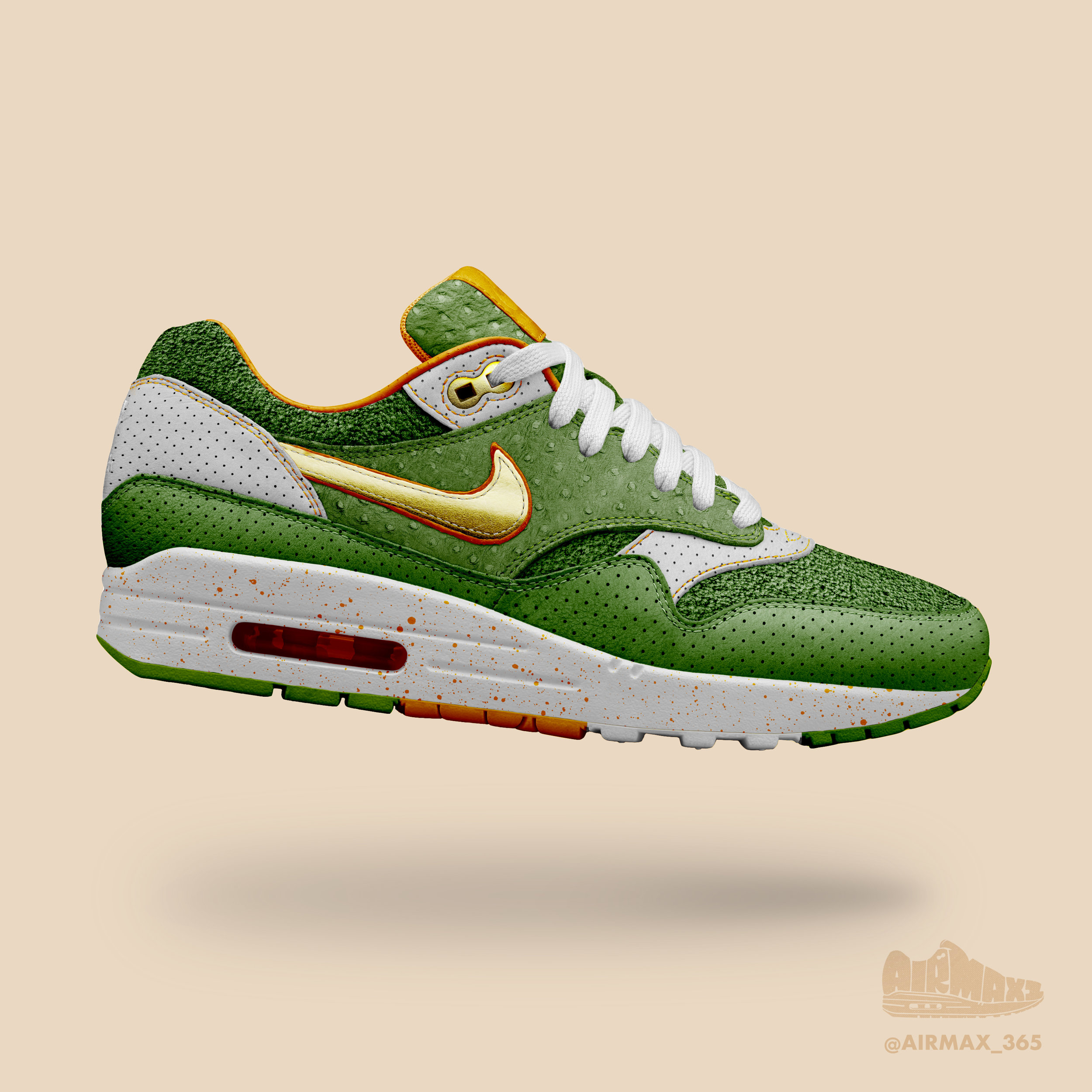 Day 198: Air Max 1 Green Punch