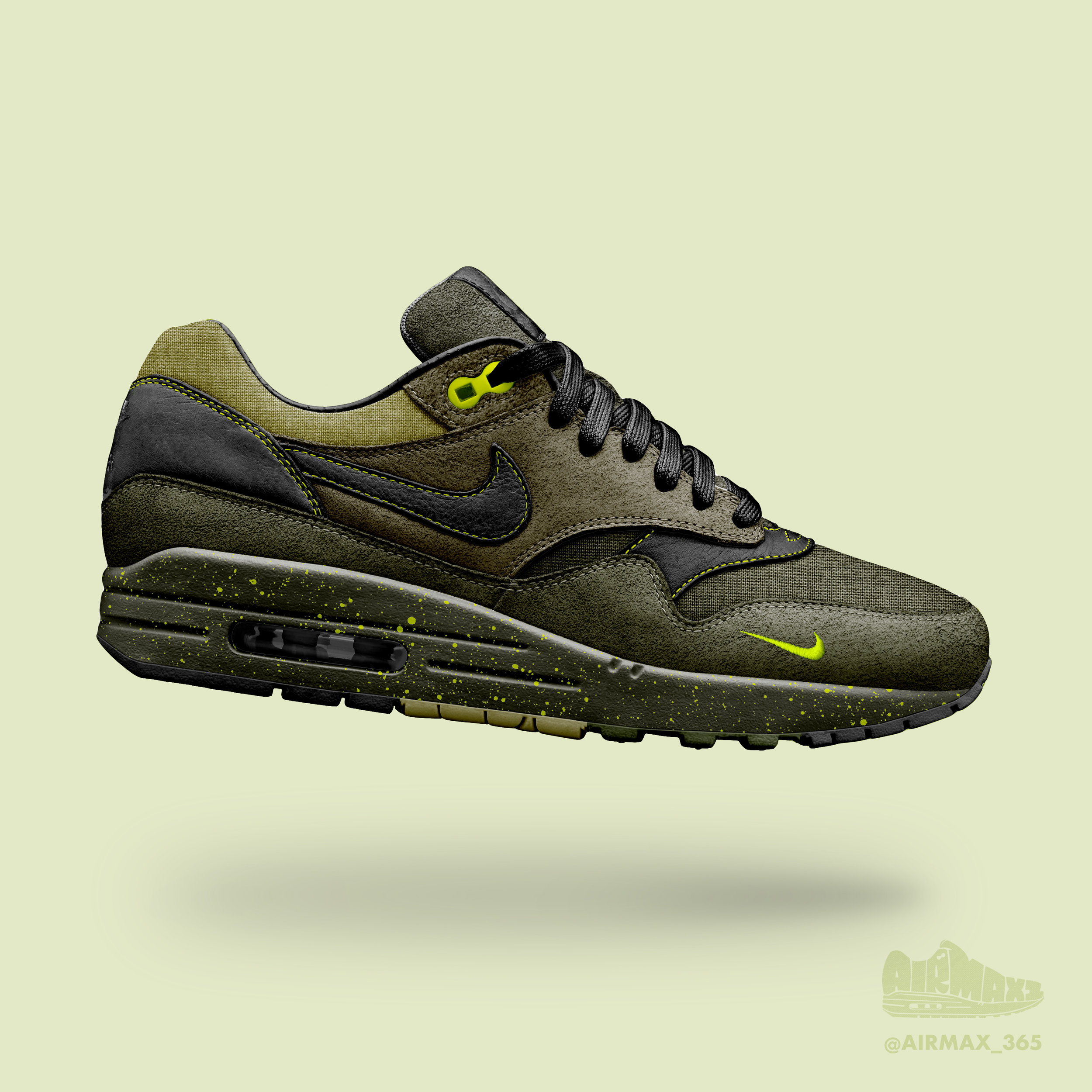 Day 196: Air Max 1 Mossy Green