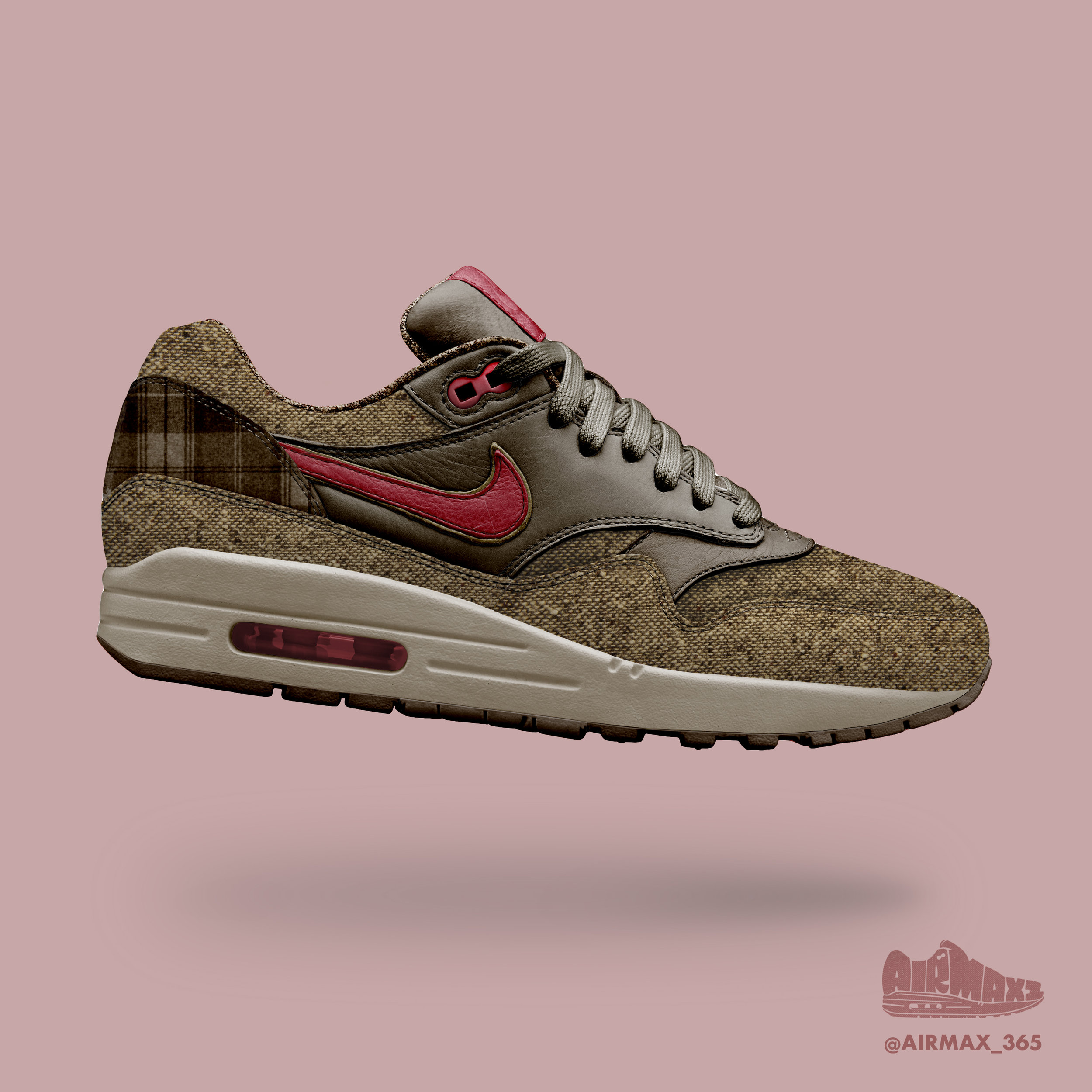 Day 185: Air Max 1 Brown Twill