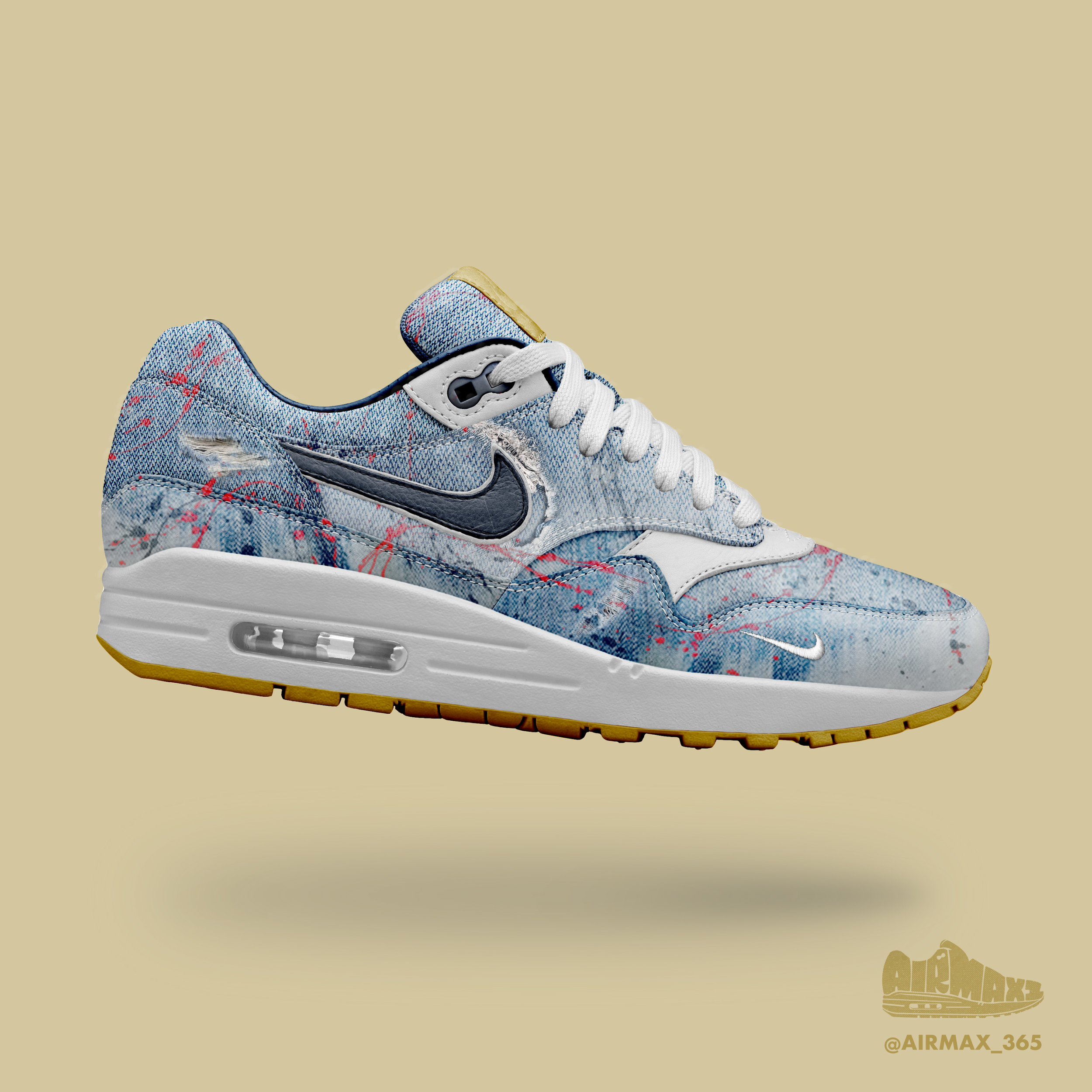 Day 178: Air Max 1 Painters Jeans