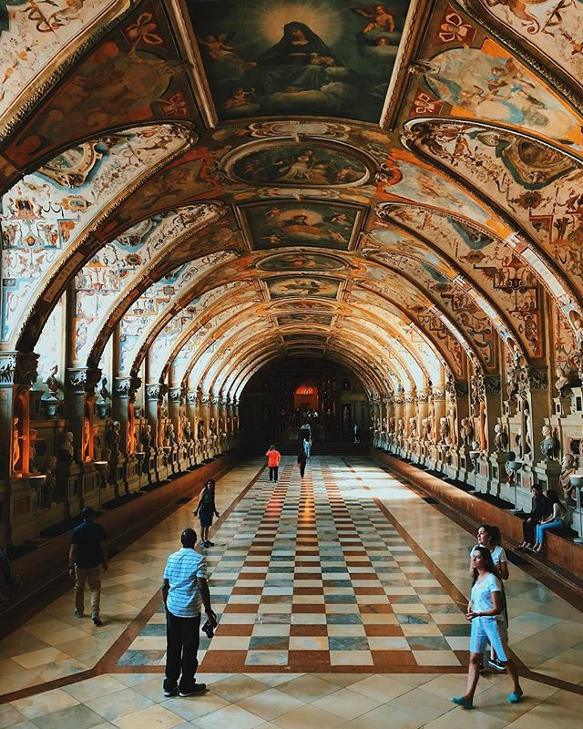 Bavarian kings really knew how to build a hallway #Germany #munich #munichresidenz #germanytourism #germantourism #deustchland