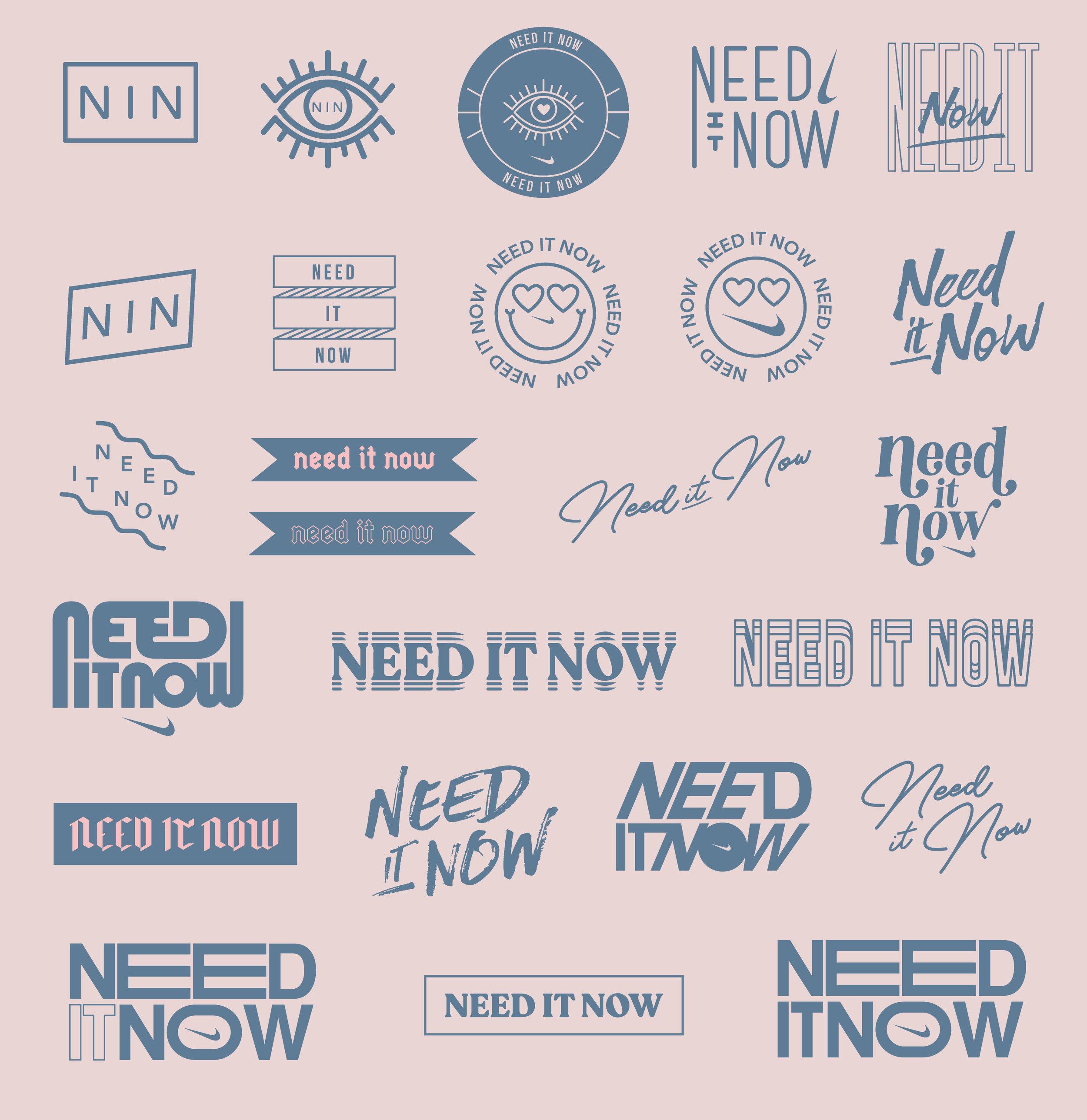 Nike Need it Now Logo Design