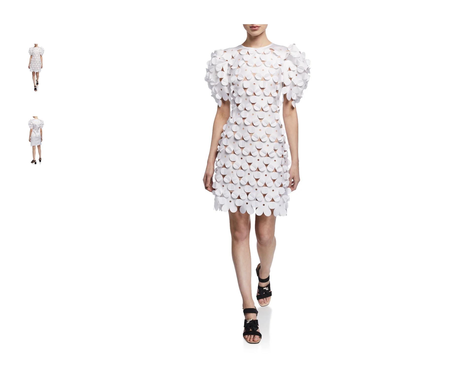 laser cut polyester dress