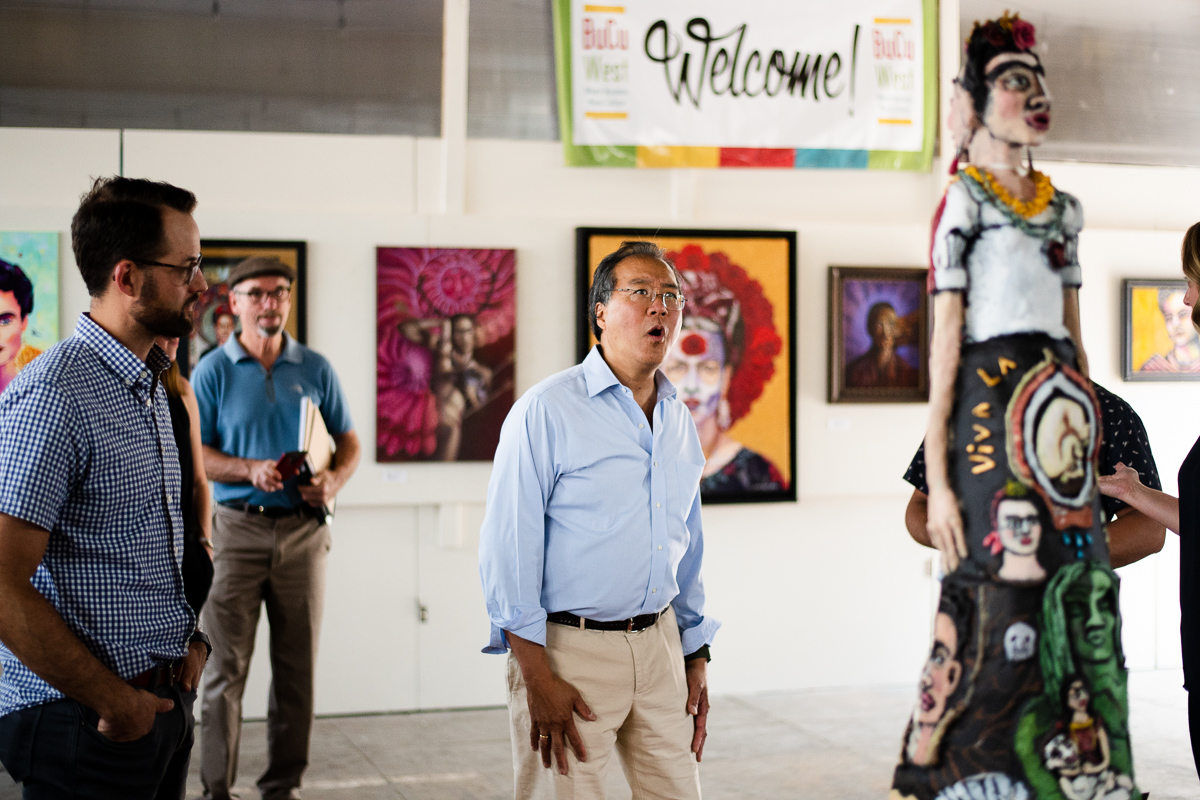 Yo-yo Ma visits Re:vision