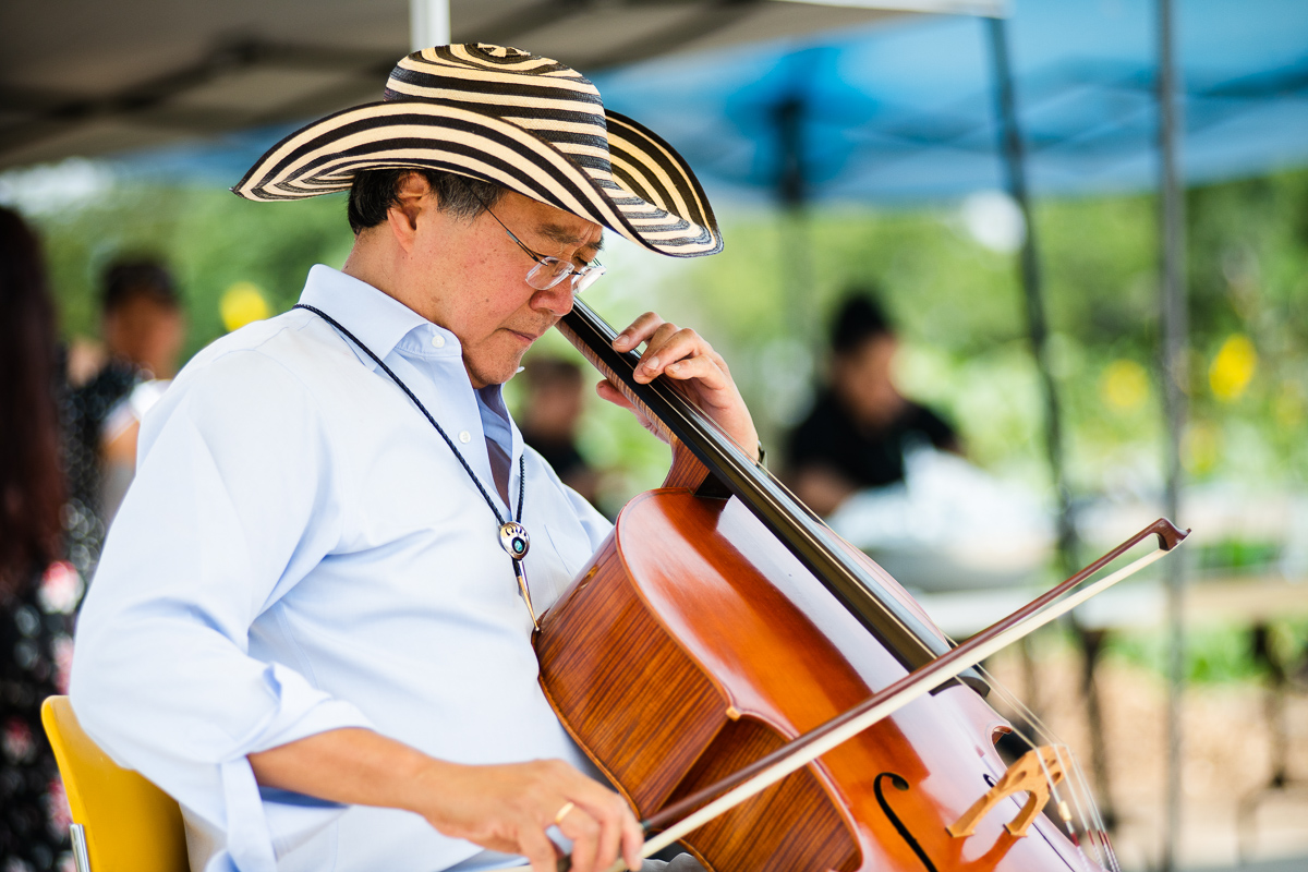 Yo-yo ma performing at a nonprofit
