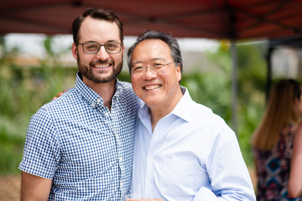 Eric Kornacki and Yo-yo Ma in Denver