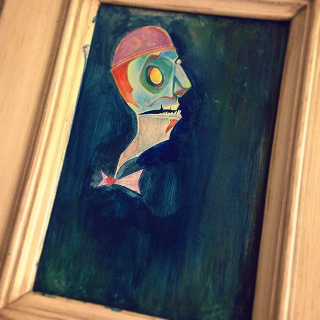 Work in progress from the historically important Fart Scape sessions, 2015. #wip #acrylic #painting #art #art365 #artofinstagram #instaart #color #characterdesign #conceptart #zombie #robot #illustration #design