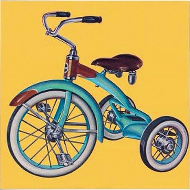 """New Wheelz"". Digital painting-Work in progress illustration for a deck of vintage kids themed playing cards my studio is developing #ilovemyjob #instaart #illustration #graphicdesign #painting #digitalart #design #art #art365 #artofinstagram #digitalpainting #conceptart #color #productdesign #cards #playingcards #wip #kidsart #thedesigntip"