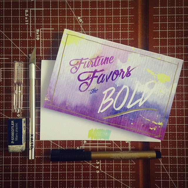 It's been a good day at the office. Giclee watercolor cards with custom gold ink hand finishes. HAPPY FRIDAY! #ilovemyjob #graphicdesign #gratuitoustype #lettering #script #type #type365 #typeaddict #typography #font #design #diy #art #ArtofType #artanddesign #art365 #prints #productdesign #cards #stationary #greetingcards #custom #handmadefont #handdrawntype #handfinishing #watercolor #ink